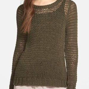 Eileen Fisher Open Knit Organic Cotton Sweater